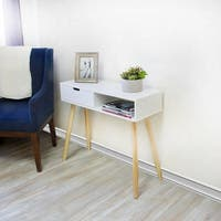 Dory Single Left Drawer White Console Table