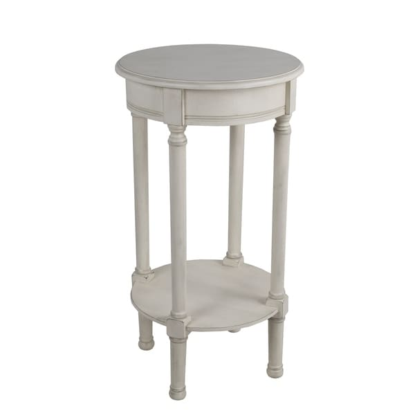 Shop Privilege Antique Pearl Round Accent Table Easy To