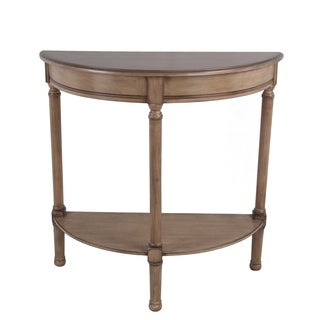 Privilege sahara half round console. Easy to assemble, no tools required, 28x12x28.