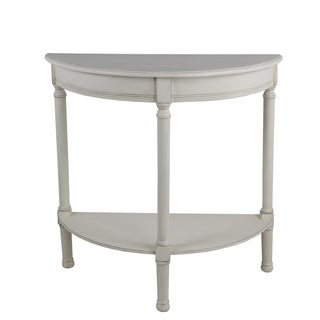 Privilege Antique Pearl Wood Tool-free Assembly Half Round Console Table