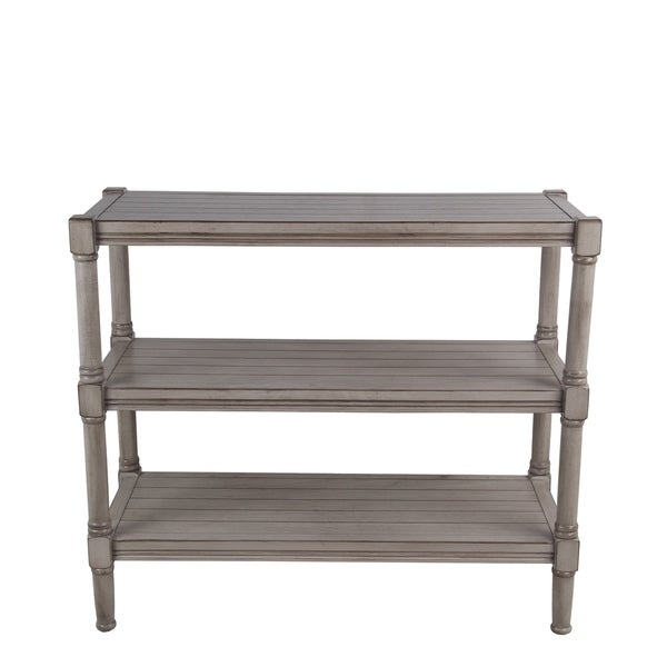 Privilege oyster 3 tier console. Easy to assemble, no tools required, 34x14x29.5.