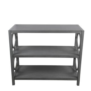 Privilege vendee gray 3 tier console. Featuring Easy to assemble, no tools required, 35.5x16x29.5.