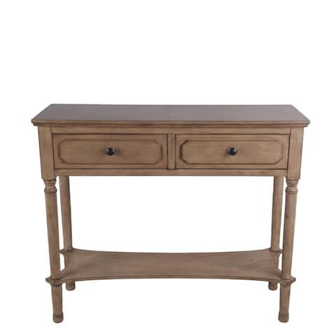 Privilege sahara 2 drawer console table. Easy to assemble, no tools required, 36x13x29.5.