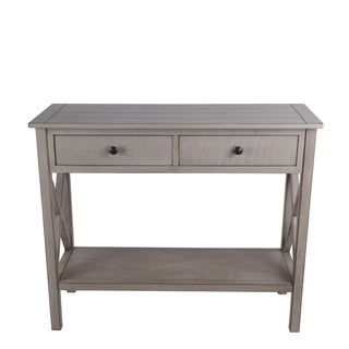 Privilege oyster 2 drawer console table. Featuring Easy to assemble, no tools required, 36x14x29.5.