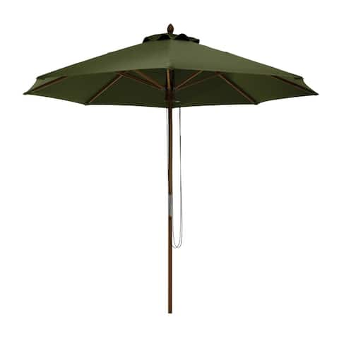 Classic Accessories Montlake Fadesafe 9' Round Bamboo Patio Umbrella, Base Not Included