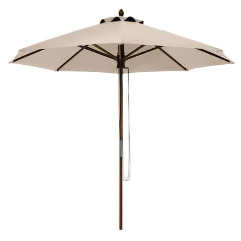 Classic Accessories Montlake Fadesafe 9' Round Bamboo Patio Umbrella, Base Not Included