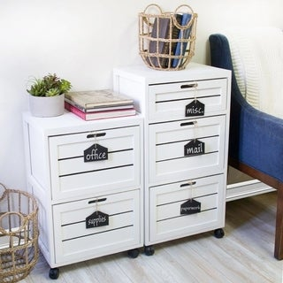 Charmant Cory 2 Crated Drawer With Hanging Chalkboard White Filing Cabinet