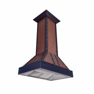 ZLINE 36 in. 1200 CFM Designer Series Copper Island Range Hood (655i-EBBBB-36)