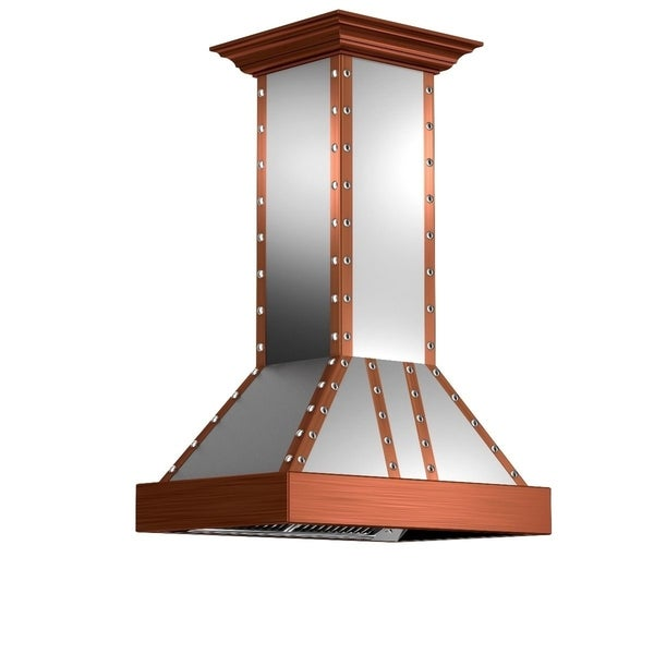 ZLINE 30 in. 900 CFM Designer Series Copper Island Range Hood (655i-SCCCS-30)
