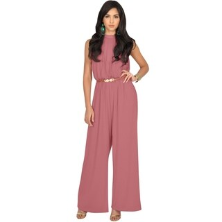 KOH KOH Women Beautiful Sleeveless Halter Neck Casual Work Jumpsuits