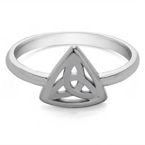 TwoBirch CelticTrinity Knott Ring in Sterling Silver