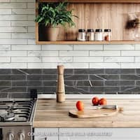 SomerTile 3.125x17.375-inch Andros White Porcelain Floor and Wall Tile (30 tiles/12.39 sqft.)
