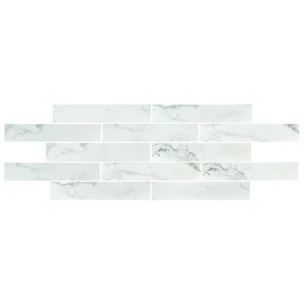 Shop Somertile 3 125x17 375 Inch Andros White Porcelain Floor And