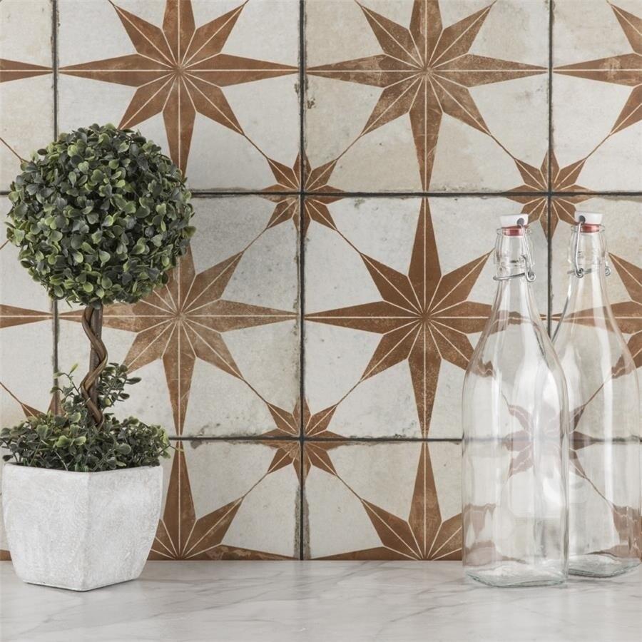 SomerTile 17.625x17.625-inch Royals Estrella Oxide Ceramic Floor and Wall Tile (5 tiles/11.02 sqft.) (CASE-Royals Estrella Oxide)