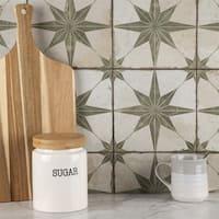 SomerTile 17.625x17.625-inch Royals Estrella Sage Ceramic Floor and Wall Tile (5 tiles/11.1 sqft.)
