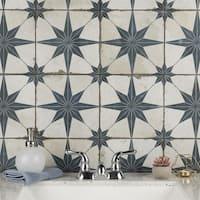 SomerTile 17.625x17.625-inch Royals Estrella Blue Ceramic Floor and Wall Tile (5 tiles/11.1 sqft.)