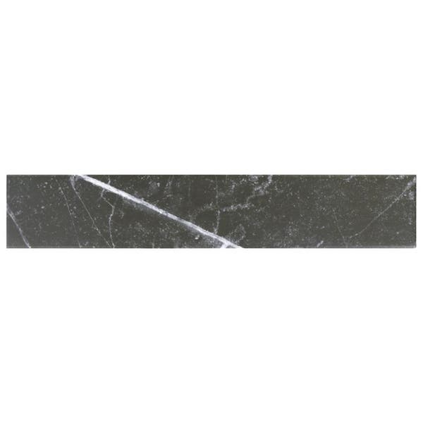 Shop Somertile 3 125x17 375 Inch Andros Black Porcelain Floor And