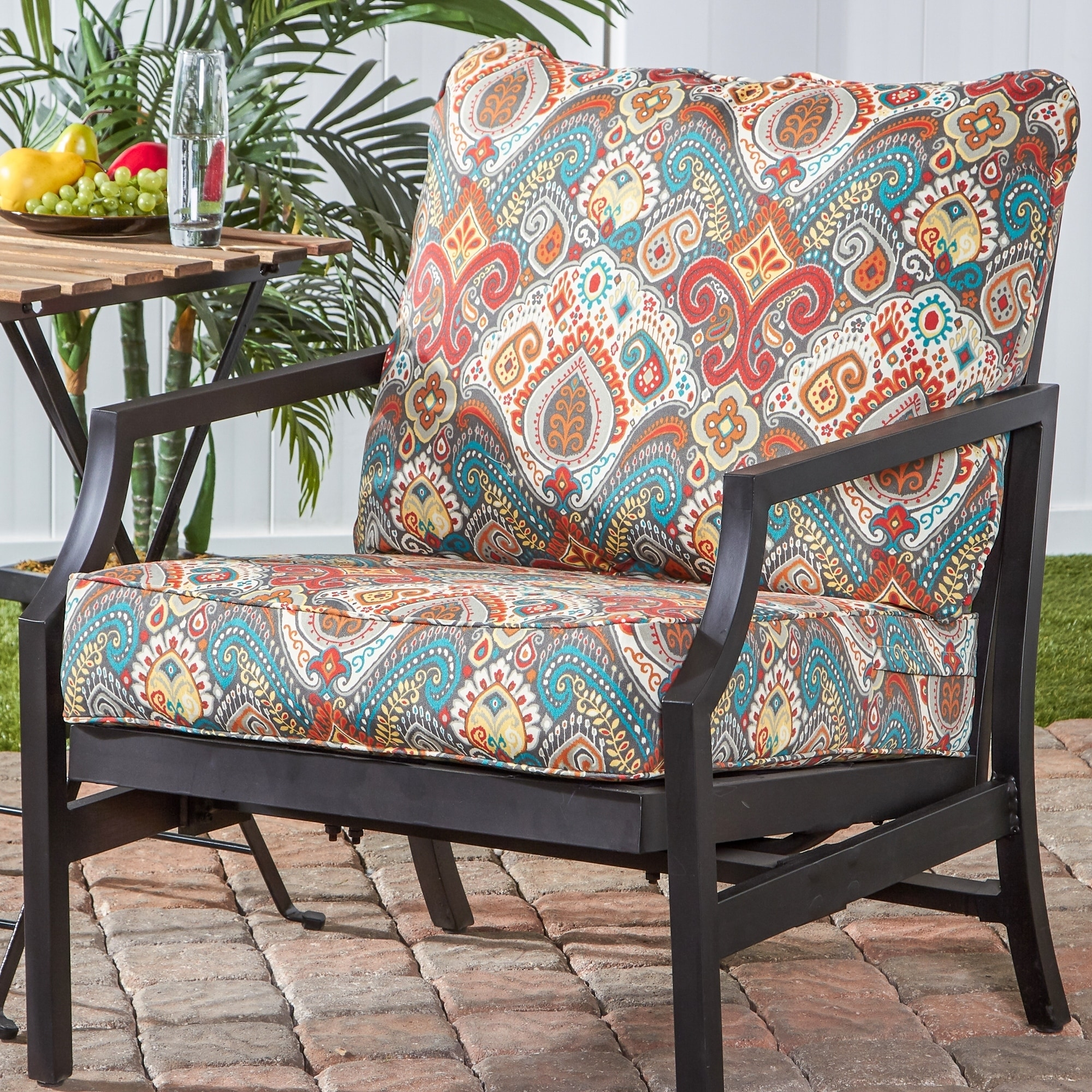 Greendale Deep Seat Outdoor Back And Seat Cushion Set On Sale Overstock 20683352