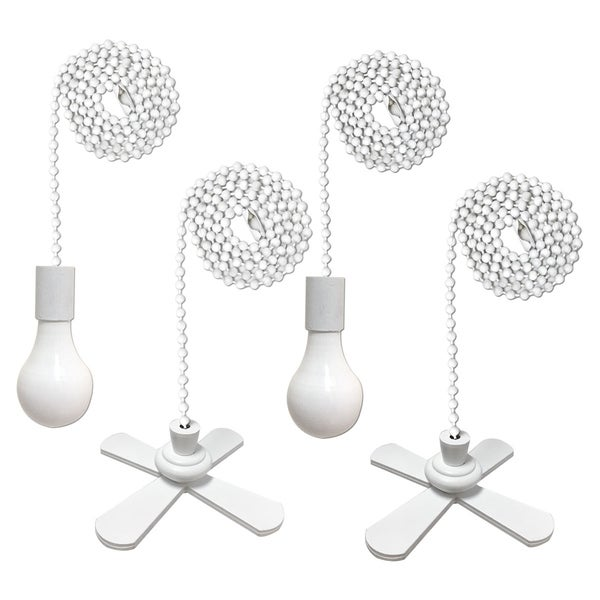 Shop Royal Designs Fan And Light Bulb Shaped Pull Chain