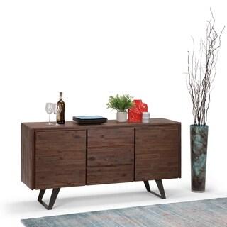 WYNDENHALL Mitchell Modern Industrial Solid Acacia Wood & Metal Sideboard Buffet