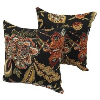 Salisbury Floral 17-inch Indoor/Outdoor Throw Pillow (Set of 2)