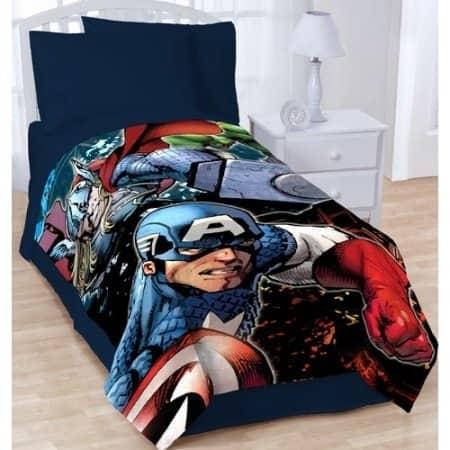 "Marvel Avengers Plush 62"" x 90"" Twin Throw Blanket"
