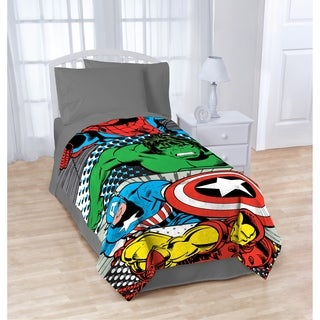 "Marvel Comics Teamwork Twin Plush Blanket, 62"" x 90"""