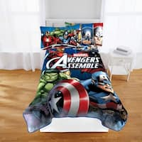 "Marvel Avengers 'Classic Halo' Plush 62"" X 90"" Twin Blanket"