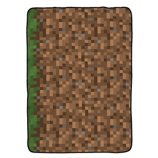 Minecraft Grass Twin Blanket