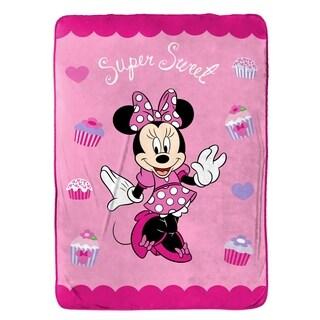"Disney Minnie Mouse Bowtique Sweet Treats Fleece Twin Blanket, 62"" x 90"""