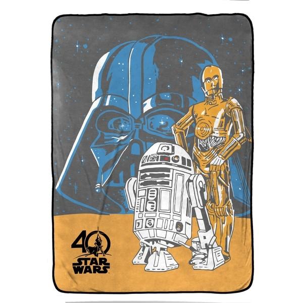 Star Wars Darth and Droids Plush Twin Blanket