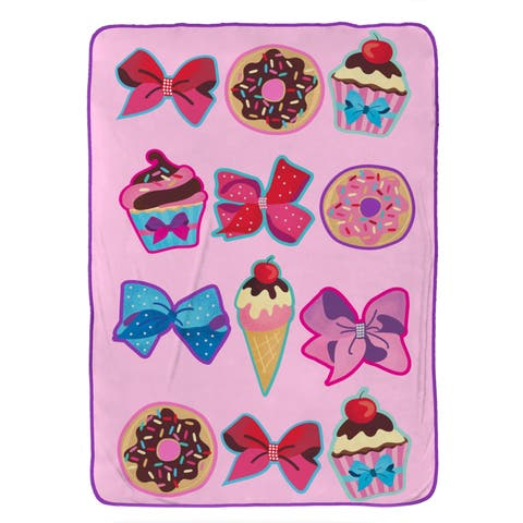 "Nickelodeon Jojo Siwa Follow Your Dreams Plush 62"" x 90"" Twin Blanket"