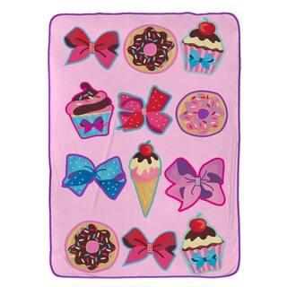 """Nickelodeon Jojo Siwa Follow Your Dreams Plush 62"""" x 90"""" Twin Blanket"""