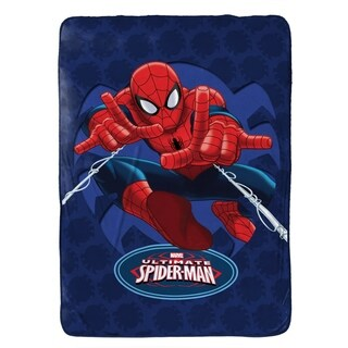 "Marvel Spiderman Astonish Plush Twin Blanket, 62"" x 90"""