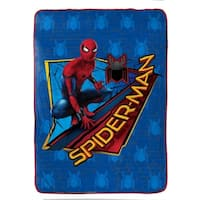 "Marvel Spiderman Wall Crawler Plush 62"" x 90"" Twin Blanket"