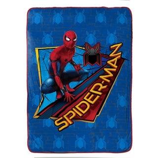"Marvel Spiderman Wall Crawler Plush 62"" x 90"" Twin Blanket"