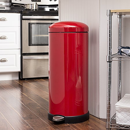 Retro Kitchen 30L Soft-Close Red