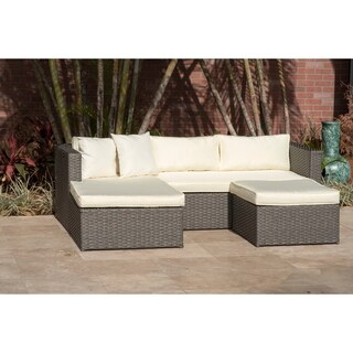 Royal 3 Piece Grey Conversation Set, Off-White Cushions