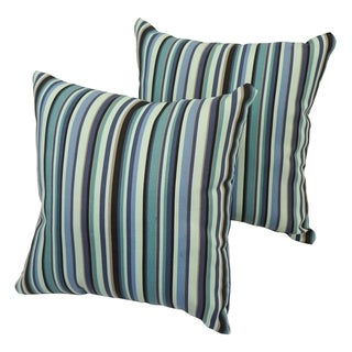 Evergreen Stripe 17-inch Indoor/Outdoor Throw Pillow (Set of 2)