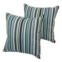 Evergreen Stripe 17-inch Indoor/Outdoor Throw Pillow (Set of 2)