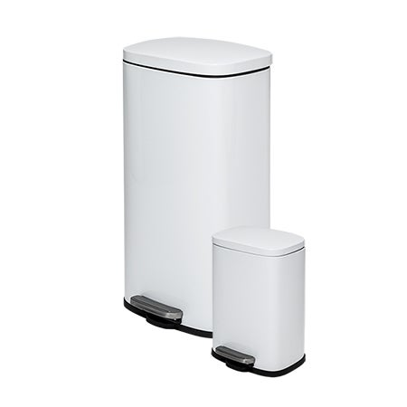 Honey-Can-Do 30L & 5L Rectangular Trash Can Combo