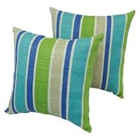 Montego Stripe 17-inch Indoor/Outdoor Throw Pillow (Set of 2)