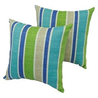 Montego Stripe 17-inch Indoor/Outdoor Throw Pillow (Set of 2)