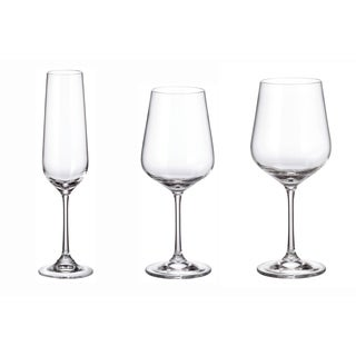 Crystalite Bohemia Trio 18PC Stemware Set