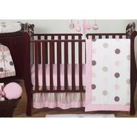 Sweet Jojo Designs Mod Dots Pink Polka Dot 11-piece Bumperless Crib Bedding Set
