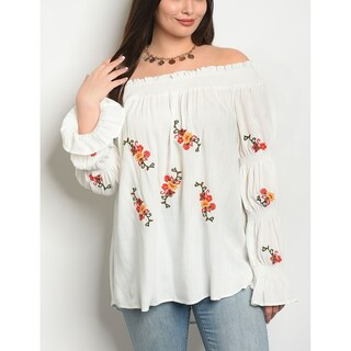 JED Women's Plus Size Off Shoulder Floral Top (5 options available)