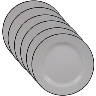 Certified International Enamelware 10.25-inch Dinner Plate (Set of 6)