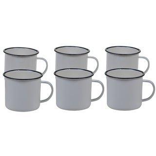 Certified International Enamelware 26 oz. Mug (Set of 6) (4 options available)