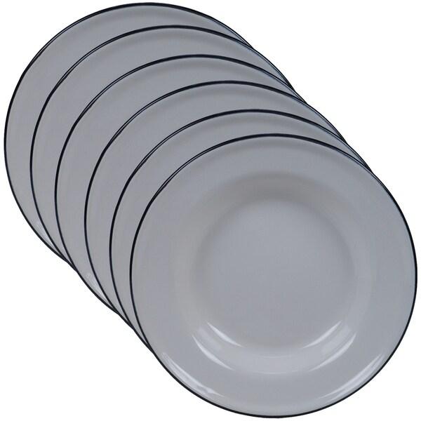 Certified International Enamelware Salad/ Dessert Plate (Set of 6)