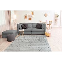 """Westfield Home Carmire Thebes Grey Runner Rug - 1'10"""" x 7'2"""""""